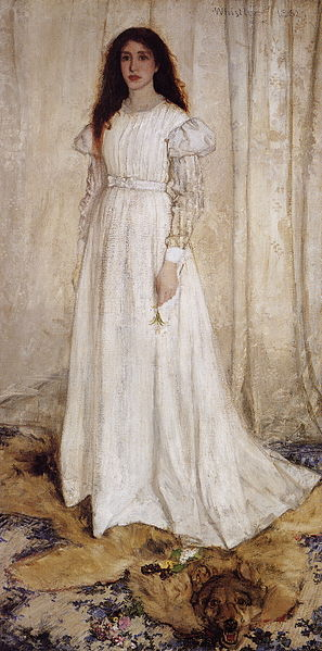 "James Mc Neill Whistler's ""The White Girl(Symphony in White No. 1)"" is in the public domain in the United States, and those countries with a copyright term of life of the author plus 100 years or less."