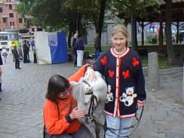 Admiring the horsie