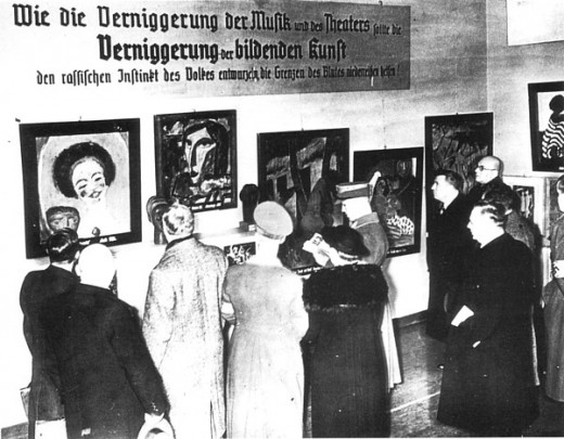 Entartete Kunst exhibition, July 1937