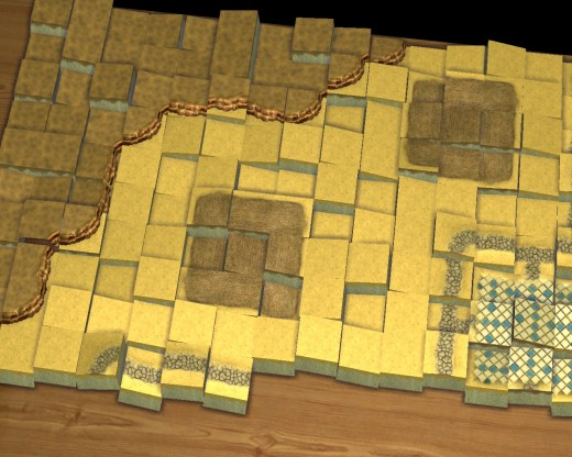 When a level begins alot of tiles fall from the sky to make a gameboard.