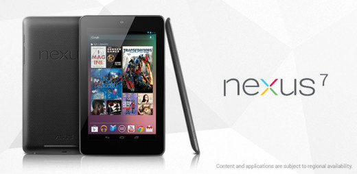 Banner from Google Nexus 7 page