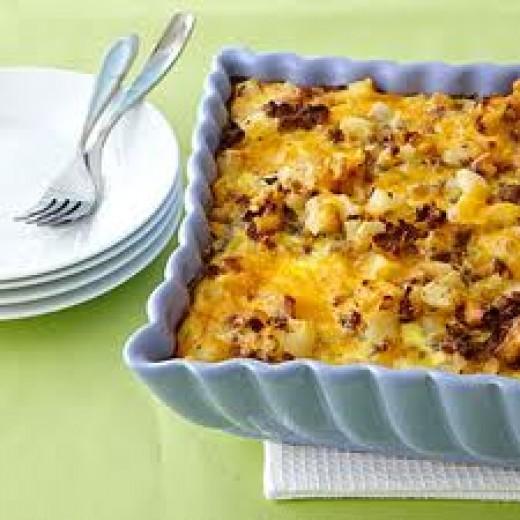 Potato and Ground Beef Casserole