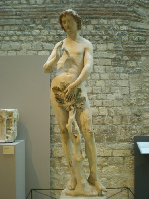 Statue of Adam, which used to decorate the Notre Dame cathedral.