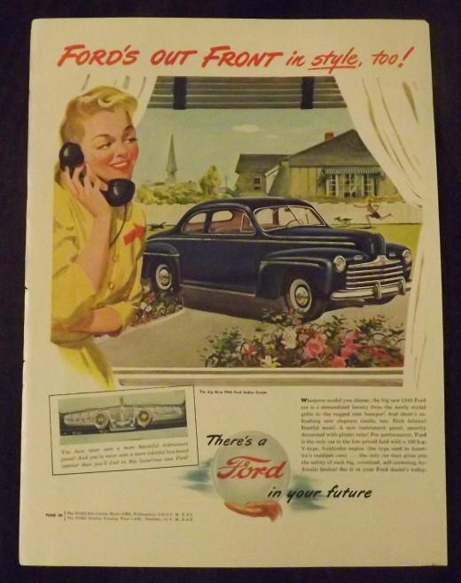 1946 Ford Vintage Print Ad