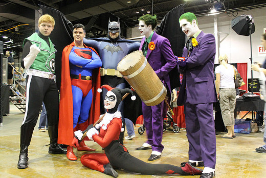 Fans dressed up at the Chicago Comic Con