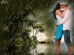 Lovers in the rain.