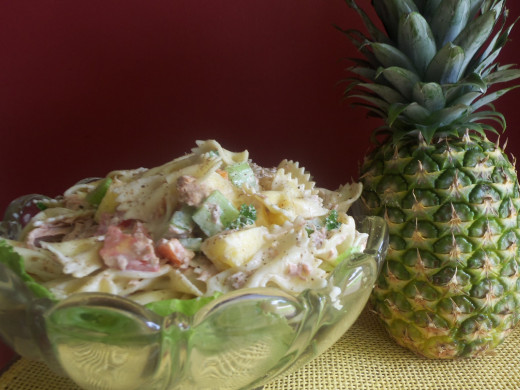 Hawaiian Tuna Pasta Salad