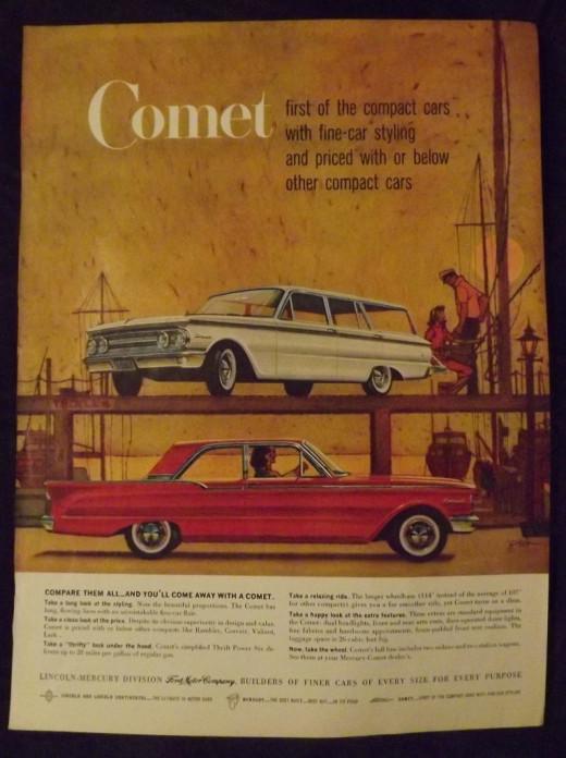 1953 Mercury Comet Vintage Print Ad