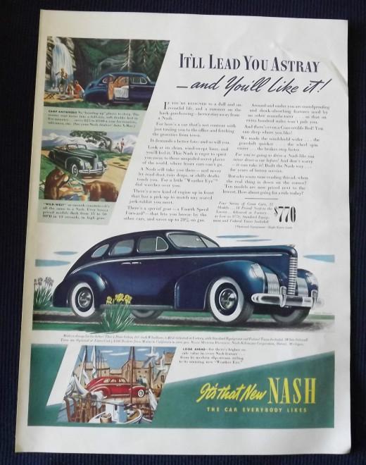 1939 Nash Vintage Print Ad