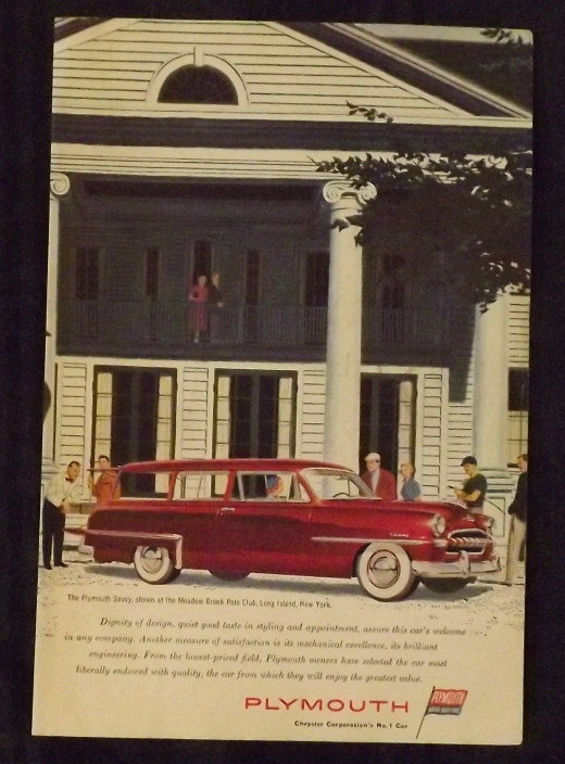 1953 Plymouth Vintage Print Ad