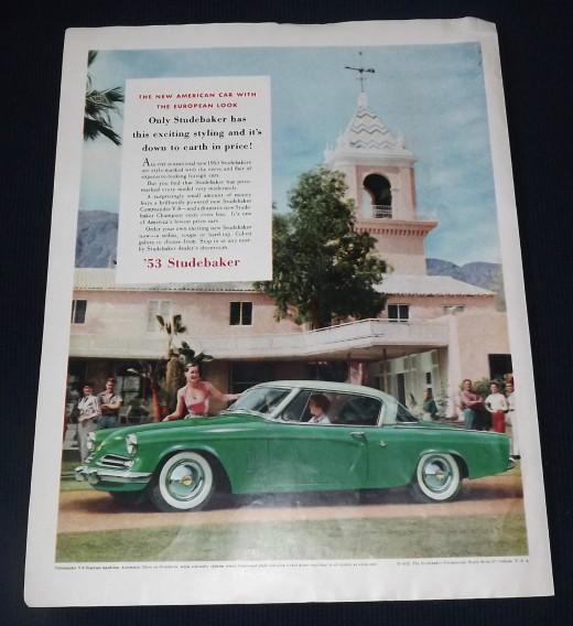1953 Studebaker Vintage Print Ad