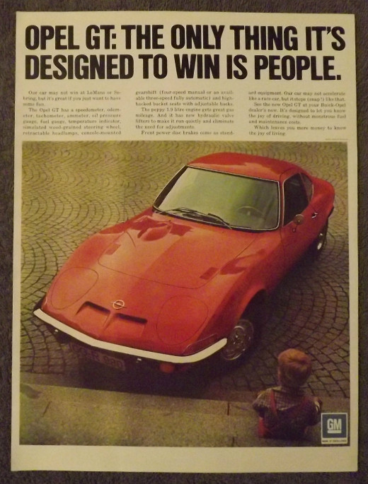 1971 Buick Opel-GT Vintage Print Ad