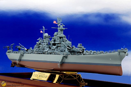 USS Missouri Battle Sip Diecast