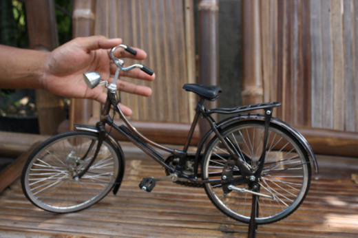 Bicycle miniature from Indonesia