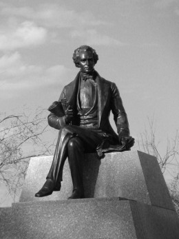 Stock photos of statues and other works of art, like this one of Stephen F. Austion, can be used on stories about statues, state parks, anything about Texas, stories about Stephen F. Austin, historical sites, and anything about history.