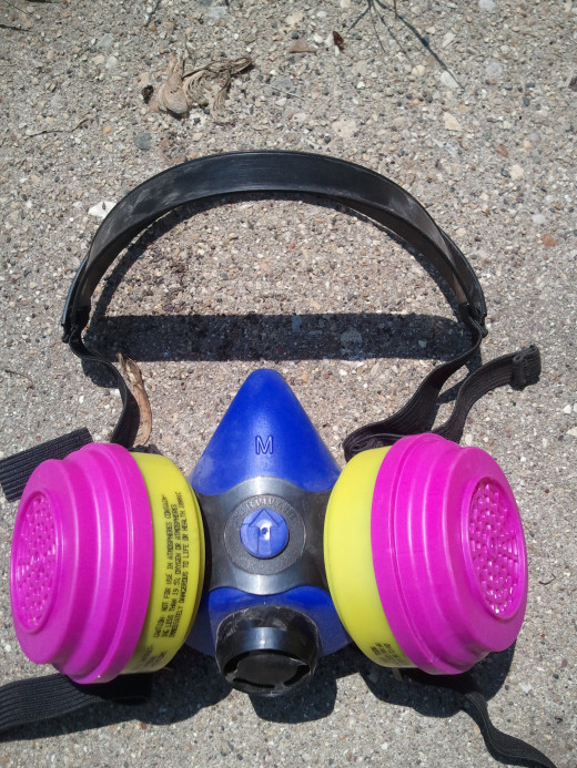 Respirators protect against pesticide inhalation poisoning.