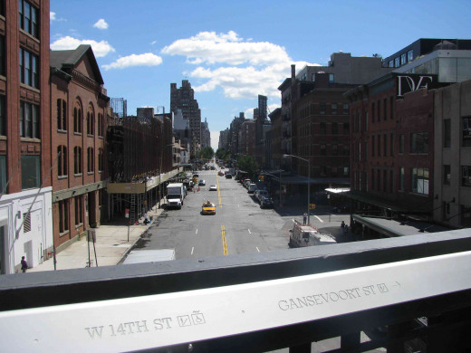 14th Street Looking East From New York City's High Line Park
