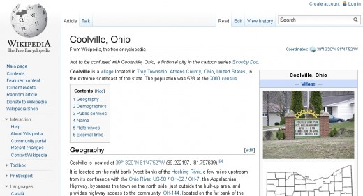 Wikipedia knows about Coolville and they are hardly ever wrong about this kind of thing.