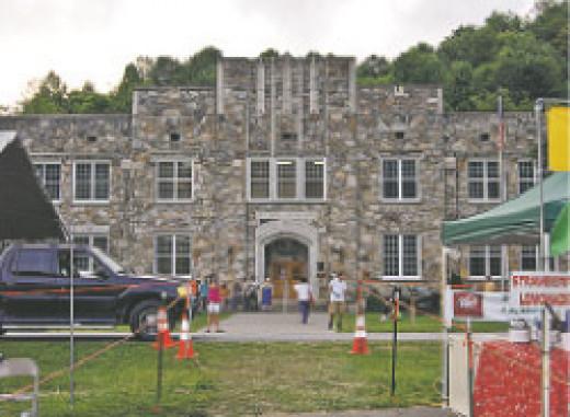 Cove Creek High School at Sugar Grove near Boone NC