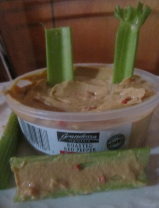 Celery and hummus