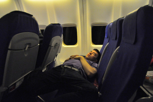 Sleeping on an airplane