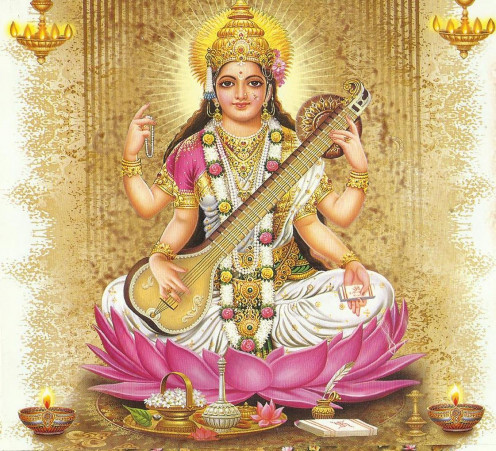 Goddess Saraswati Mantras can be chanted for Knowledge, Success In Education and better Career prospects.