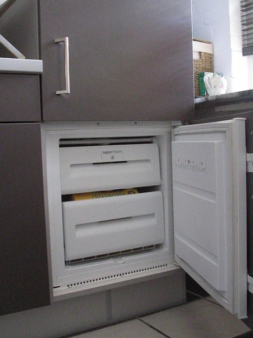 Average small freezer