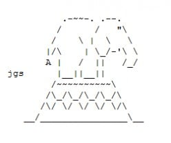 Circus, Carnivals, Fairs with Jugglers, Fortune Tellers, Ferris Wheels, Roller Coasters and Carousels in ASCII Text Art
