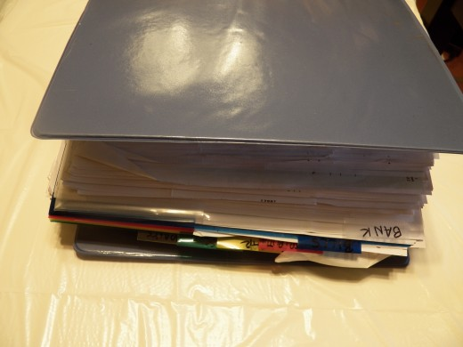 Binder System for Receipts is a bit more work but helps you find things quickly.