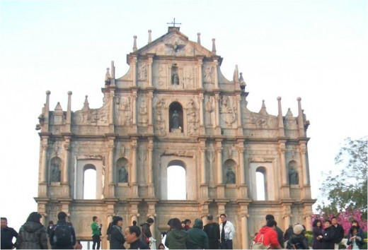Ruins of the St Pauls Cathedral at Macau