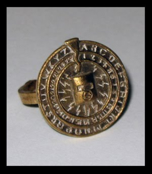 """This is a pretty fancy """"secret decoder ring."""""""