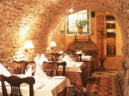 The elegant interior of restaurant La Provence in Vilnius,