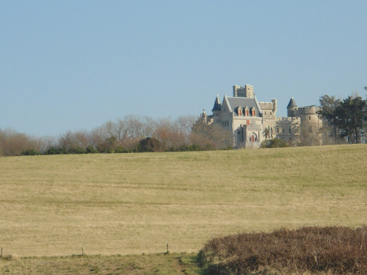 The seafront Château of Antoine d'Abbadie, built by the architect Eugène Viollet-le-Duc is a monument of  Gothic Revival.