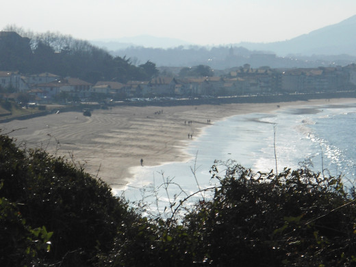 Hendaye Beach seen from the Domaine d'Abbadia