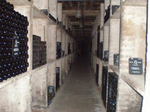 Inside a cellar