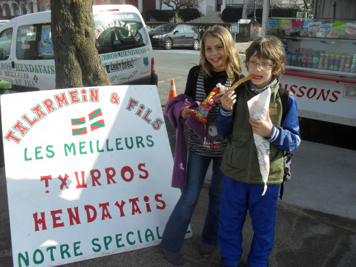 After a long walk discovering the French Basque Coast a well deserved handful of Churros!