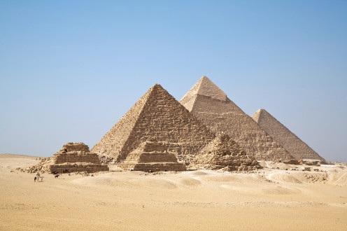 Despite all our technology today, we still marvel at the magnificence of the pyramids like these ones in Gizah.