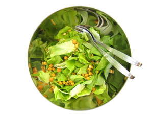 Eat salads slowly and enjoy each bit.