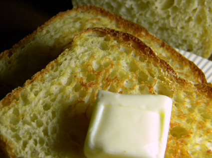 English Muffin bread made with wheat flour
