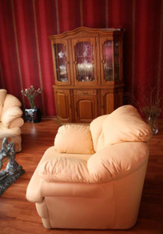 Sofa beds serve dual purposes decorating a studio apartment.