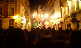 Hoguera in flames