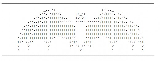 One Line Ascii Art Bat : Vampires sexy and spooky in ascii text art