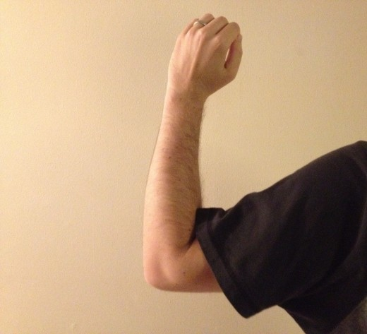 Leader's left arm