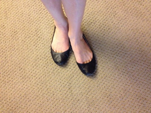 Follower's foot position