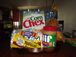 Chex mix square ingredients.
