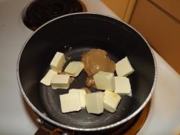 Melting ingredients.