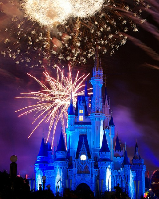 Disney Castle at night picture