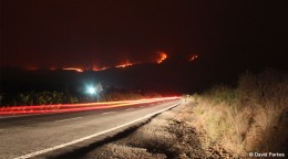 Tenerife fires as viewed from the TF-51 just south of Vilaflor, 16 July 2012. Photo by David Parkes of Tenerife Outdoors -http://www.tenerifeoutdoors.com/.
