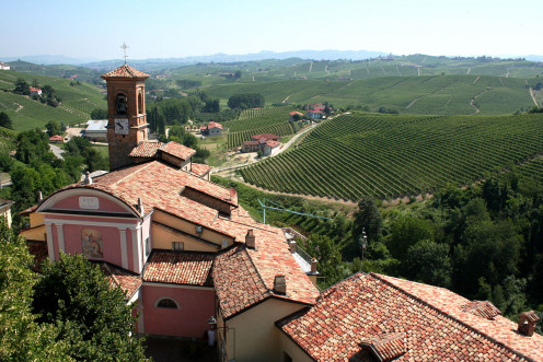 View with the Barolo Wine Museum