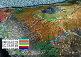 Map showing the area of the fire.  Source: website of Gobierno de Canarias